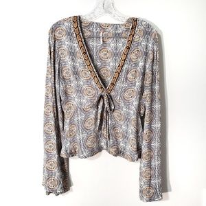 Free people time of your life top tie front